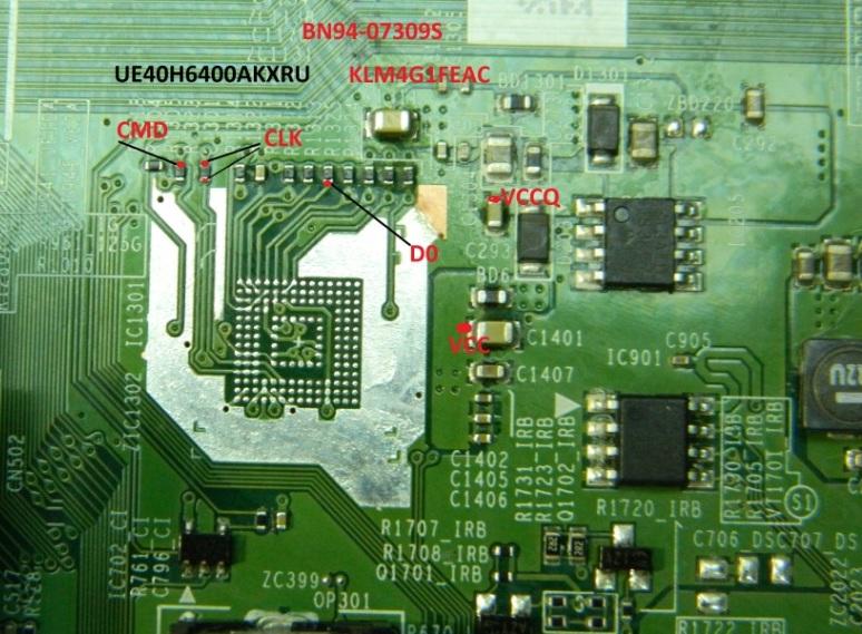 EMMC-AUTO-ISP (GND-CLK-CMD-D0)